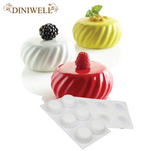 DINIWELL 6 Cavity White Silicone Cake Baking Mould For Dessert Mousse Chocolate Mold Cakes Decorating Tools