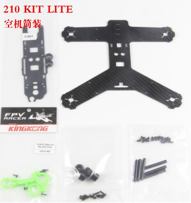 KINGKONG 210GT KIT LITE Frame 210MM Carbon Fiber High strength Mini Rack for RC Quadcopter Racing Drone Aircraft frog lite fission version frame base rack chassis for rc fpv racing drone quadcopter