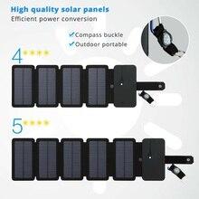 Katlanabilir 10 W güneş panelleri Şarj 5 V 2.1A Dahili USB Çıkışı Güneş Hücreleri Akıllı Telefonlar için Açık Havada Kamp