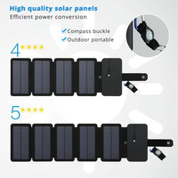 Folding 10W Solar Panels Charger 5V 2.1A Built in USB Output Solar Cells for Smartphones Outdoors Camping
