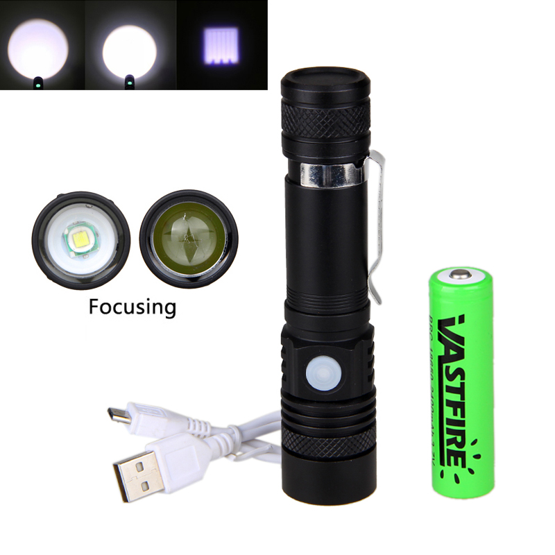 8000 Lumen XM-L T6 LED Flashlight Torch Zoomable Focus Torch Lamp with 2400mAh Rechargeable Battery for Outdoor Fishing Camping 3 6v 2400mah rechargeable battery pack for psp 3000 2000