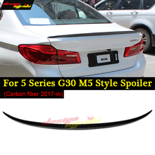 G30 M5 Spoiler Rear Trunk Boot Lip Wing for BMW Carbon style 530i 535i 550i 4-Door 17-in