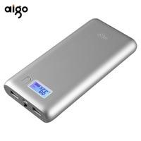 Aigo W20000 20000mAh Battery Charger Large Capacity Fast Charging Power Bank LCD External Backup Power Supply