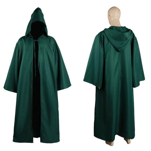 Star Wars Cosplay Cloak Robe Jedi Sith Hooded Costume Green Robe Cloak Only  Cape Hoodie Halloween Carnival Costume Full Sets 7debe4944