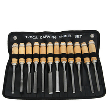 12 sets of rubber carving tools Gendiao, carved wood carving knife carpentry chisel set стоимость