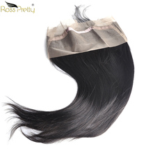 Ross Pretty Remy Pre Plucked 360 Lace Frontal Straight Brazilian Human Hair Natural color 1b Front Closure with Baby