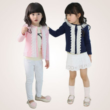Emmababy Hot Sale Childrens Clothes Baby Girl Outwear Spring Autumn Coat High Quality arrival Lace Patchwork Solid Color Top
