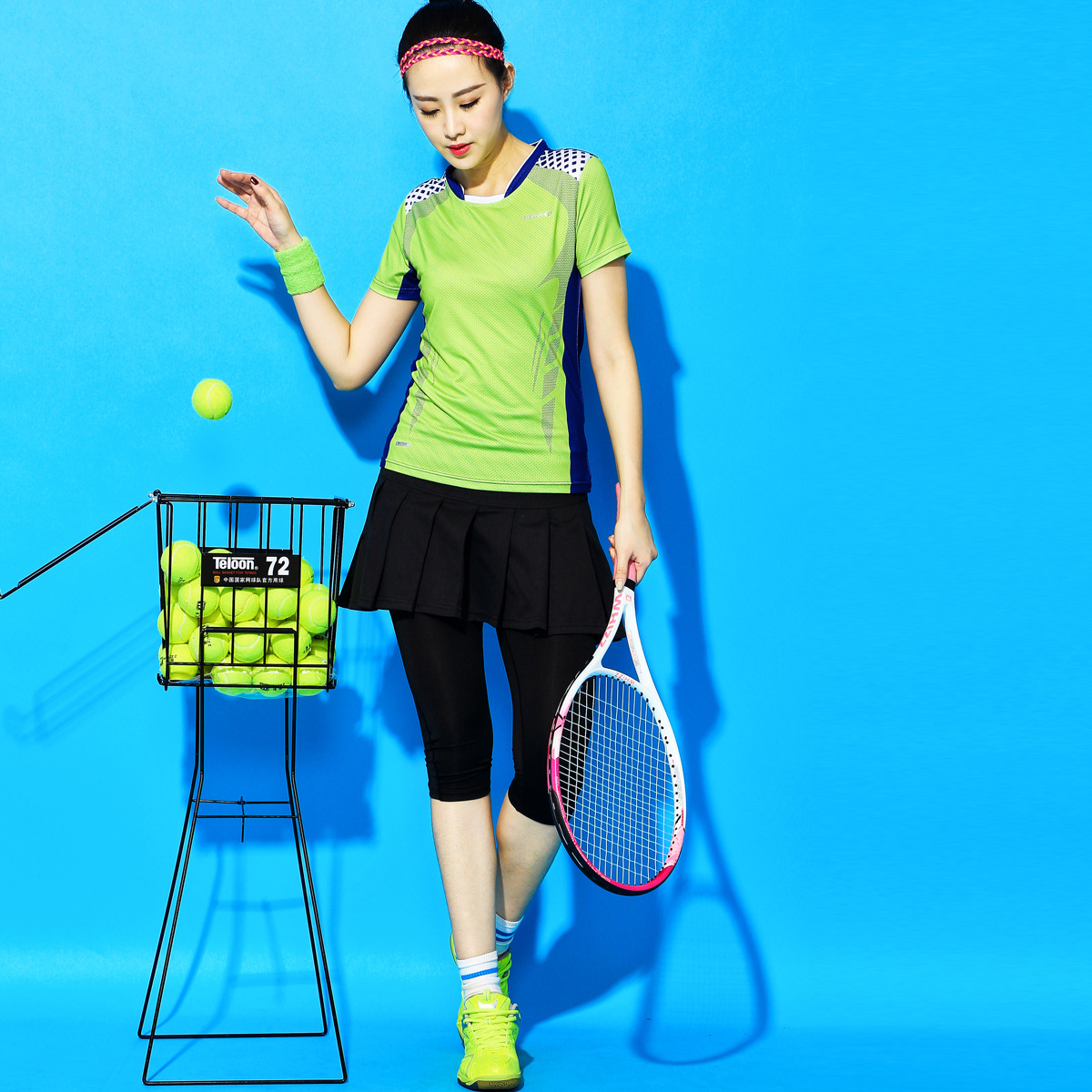 Yoga Table Tennis Clothing Plus Size Badminton Wear Skirt Pants Women's Sports Skirt Quick-drying Calf-Length Pants