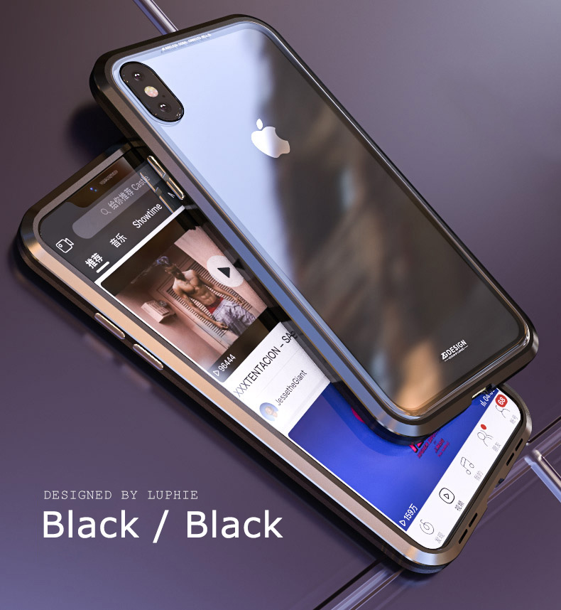 LUPHIE magnetic case for iPhone X XS Max XR 7 8 magnet case (8)