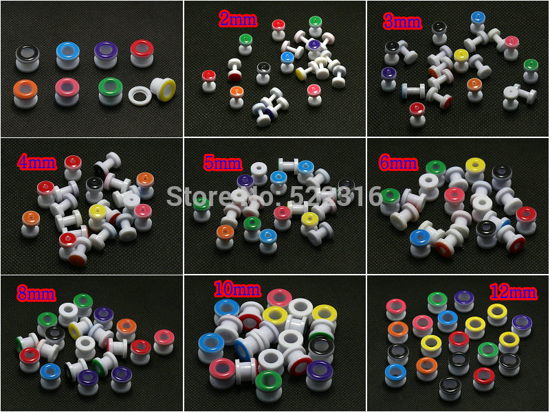 280pcs/lot oil drip color screws fit big size 2014 new ear plug flesh tunnel stretcher expander guages body piercing jewelry