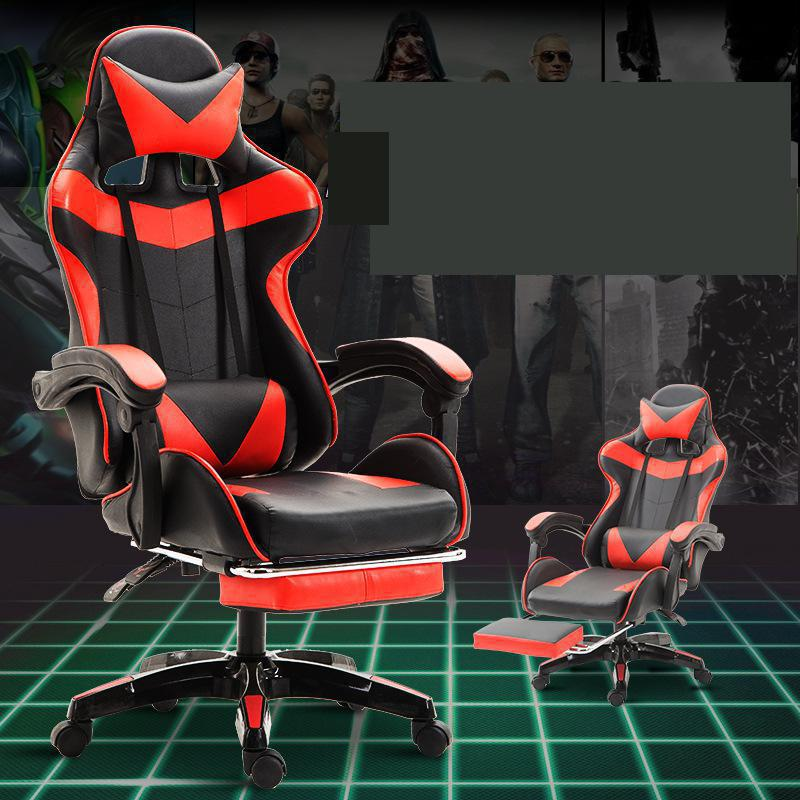 Computer Chair Competitive Leather Game Students Internet Ergonomics Office Anchor Household Lifting Reclining Wholesale Gaming-in Office Chairs from Furniture on AliExpress