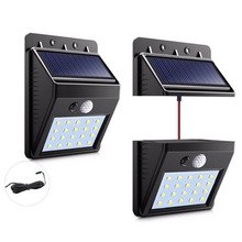 Solar Light Panel Outdoor LED Nightlight Waterproof Separable 30 LED Solar Power Motion Sensor Wall lamp For Garden Night Lights 4 pack radar sensor solar rechargeable led wall light outdoor garden lights waterproof outdoor led lights for solar power