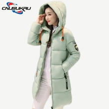 Здесь можно купить   2017 New Arrival Female warm long outwear winter jacket woman plus size 3XL parka thicken hooded coat cotton overcoat  Women