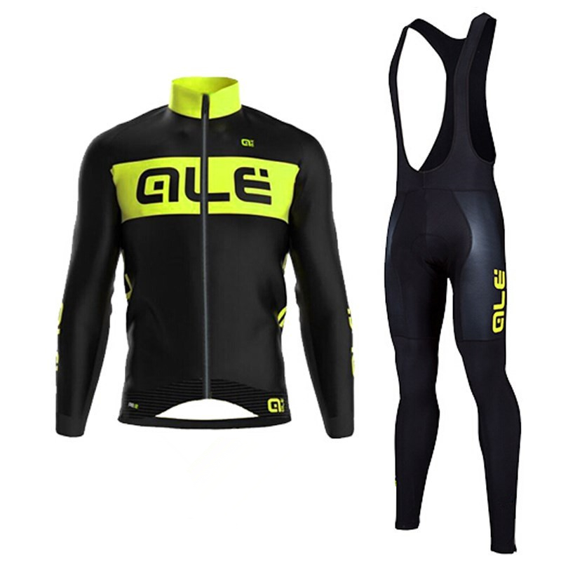 Team ALE Cycling Jersey Long Sleeve Winter Thermal Fleece Bicycle Ale Cycling Jersey Super Warm Winter
