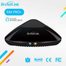BroadLink RM Pro + For Home Appliances Universal IR WiFi Smart Remote Control 433 rf Compatible Alexa Echo Apple xiaomi