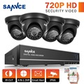 4ch 1080 p hdmi cctv sistema 4 pcs sannce 720 p 1280tvl câmeras de segurança de 4 canais cctv dvr kit de vigilância