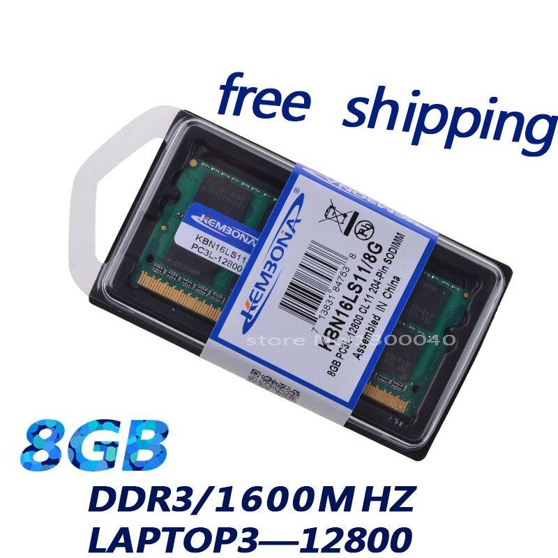 KEMBONA KBA16LS11/8 1600Mzh DDR3 8 GB DDR3L 1.35 V PC3-12800L 1.35 V Mémoire Ram Memoria pour Ordinateur portable livraison Gratuite