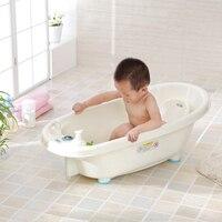 Newborn cheap baby bathtub with temperature, plastic bath tub for kids