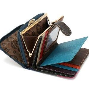 Image 2 - Skóra bydlęca kobiety torebka małe portfele luksusowe marki pani monety torba na kieszonkowe portfel damskie portmonetki carteira feminina