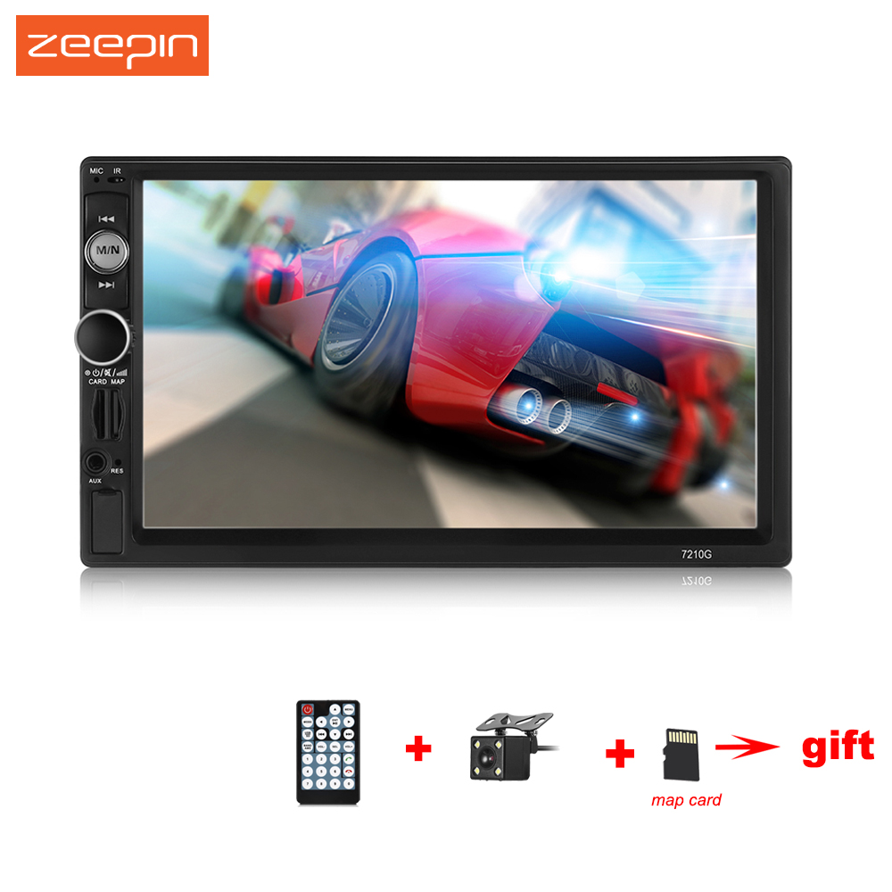 ZEEPIN Universal Car Multimedia Player 7 inch Touch Screen GPS AM FM RDS Radio with Rear Camera Navigation Maps Auto MP5 Player car mp5 player with rearview camera gps navigation 7 inch touch screen bluetooth audio stereo fm function remote control