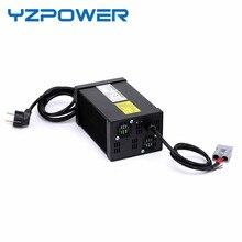 YZPOWER 24 S 87.6 V 8A 7A 6A 5A Carregador Rápido Carregador de Bateria para 72 V Ebike Bateria Lifepo4 com 4 Ventilador De Refrigeração