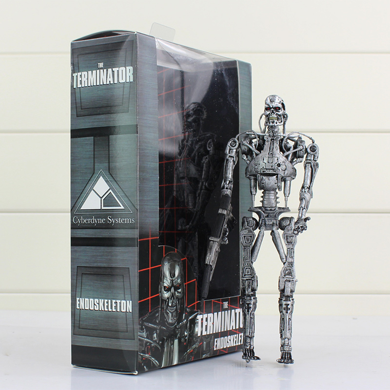 New arrival 18cm terminator endoskeleton pvc action terminator figure with box free...
