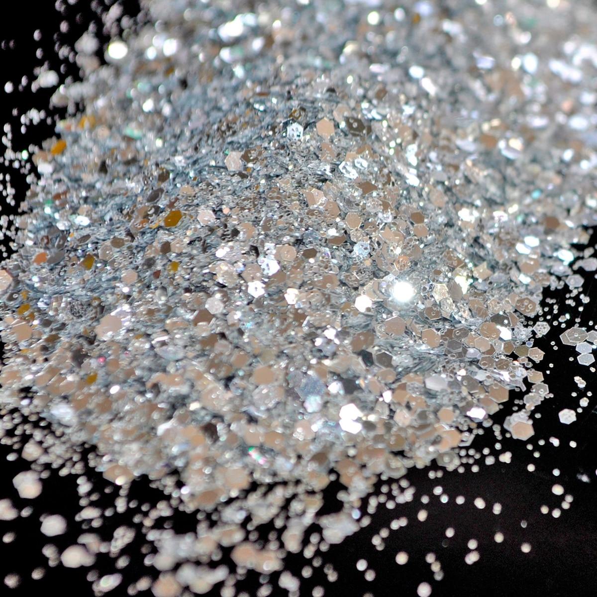 Helle Silber Hexagon Form Glitter für Nagellack Acryl, DIY Liefert ...