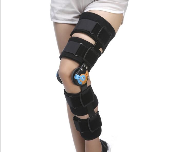 Безплатна доставка регулируема коляно скоба ортеза панта универсален размер коляно фрактура фиксация протектор ортопедични ортопедични евтини  t