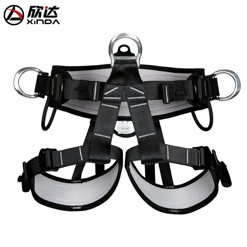 XINDA Brand Waist Protection Leggings Harnesses Bust Seat Belt Outdoor Rescue Rock Climbing Rappelling Equipment Accessories outdoor rock climbing rappelling mountaineering full body safety harness wearing seat belt sitting bust protection gear