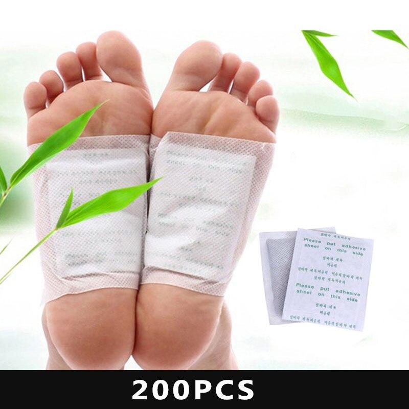 100 шт Детокс накладки для ног детоксикация токсинов подходит для ухода за здоровьем Детокс ПА улучшает кровообращение борется с усталостью ...