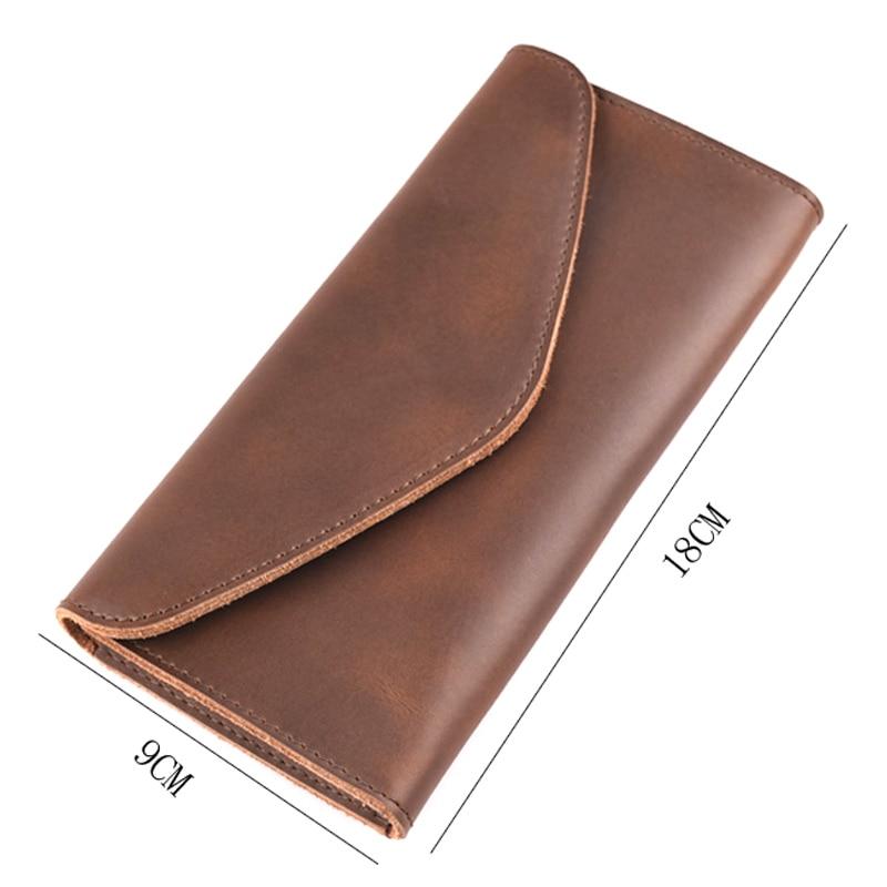 Multifuctional Unisex cuero genuino de viaje Casual carteras con tarjeta monedero bolsillo