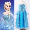 Halloween  Princess kids Girls Queen Elsa Cosplay Fancy Dress Costumes Children Cartoon Costumes