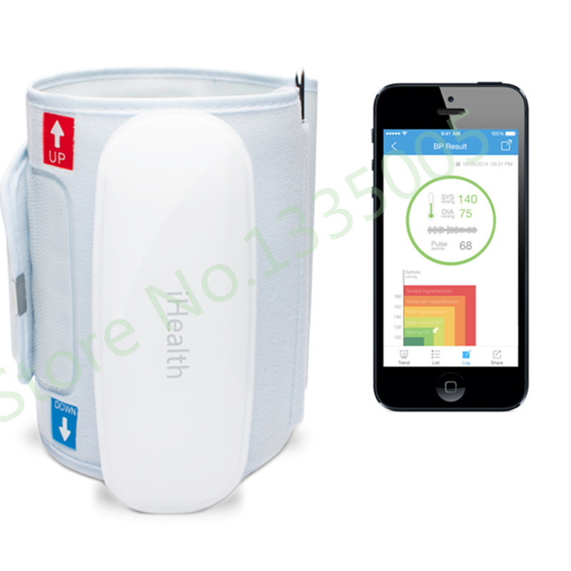 2015 Hot Sale Aparelho De Pressao Digital Ihealth Bp5 Wireless Blood Pressure Monitor Bluetooth Smart Android Or Ios Suitable  new update original xiaomi bluetooth ihealth smart blood pressure dock monitor system for xiaomi series electronic gadgets
