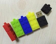 5 PCS No Logo USB2.0 Soft PVC Toy Bricks USB Drives Brand New Capacity Enough U Disk USB3.0 Flash Bricks USB Memory Chip