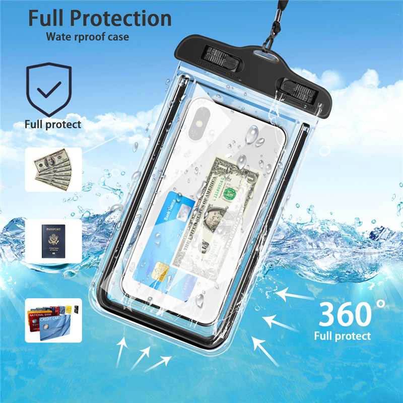 Image 2 - USLION Universal Waterproof Case For iPhone 11 Pro Max XS MAX X XR 8 7 6 Plus Cover Pouch Bag Cases For Samsung Huawei Xiaomi-in Fitted Cases from Cellphones & Telecommunications