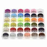 36 Pcs Sewing Thread Bobbins with Bobbin Case Sewing Thread Kit For Multiple Sewing Machine Standard Size and Assorted Colors