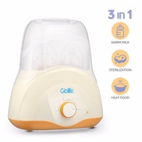 3 In 1 Baby Double Bottle Warmer Fast Food Milk PTC Heater Sterilizer With Indicator Milk Warm Device BPA Free For Baby Feeding
