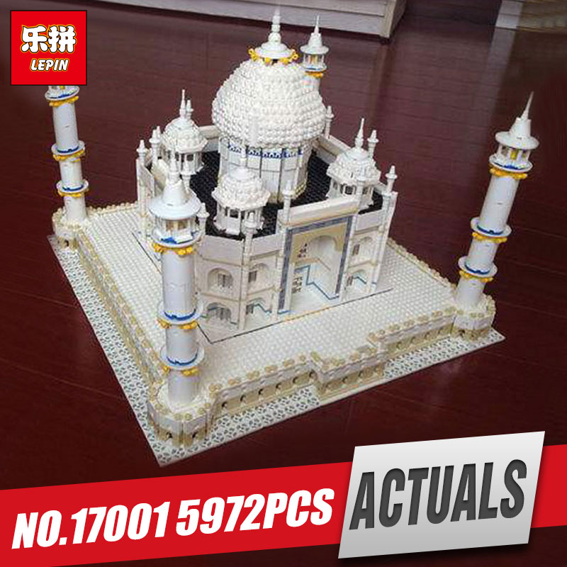 LEPIN 17001 5952pcs New The taj mahal Model Educational Building Kits Blocks Bricks Compatible Children Toys Gift With 10189 lepin 21012 builder the beatles yellow submarine with 21306 building blocks bricks policeman toys children educational gift toys
