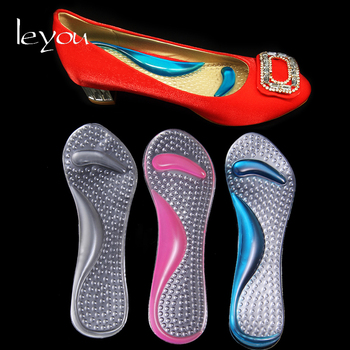 Leyou Silicone Arch Support Insoles Heel Pain Gel Pads Silicone Shoes Insole Inserts Pads Massage Flat Foot Insoles Orthotic flat feet orthotic arch support gel pads non slip pain relief shoes insoles free shipping ht0027