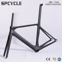 Spcycle New Model Aero Track Carbon Bicycle Frames,700C Fixed Gear Track Road Carbon Bike Frames,T1000 Track Carbon Frames BB86