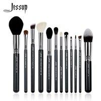 Jessup 12Pcs High Quality Pro Makeup Brush Set Kabuki Foundation Contour EyeShader Blend Brow Powder Make