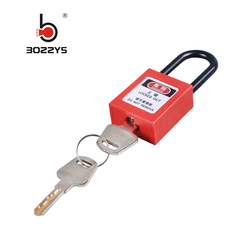 Engineering plastic insulation padlock safety lockout tag lock loto energy isolation lock Keys alike master key 8 colors BD-G11 Замок
