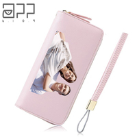 APP BLOG Brand Custom Made Unique Personality Women's Purse 2017 Newest Long Fashion Phone bags Clutch Leather Wallet As Gift