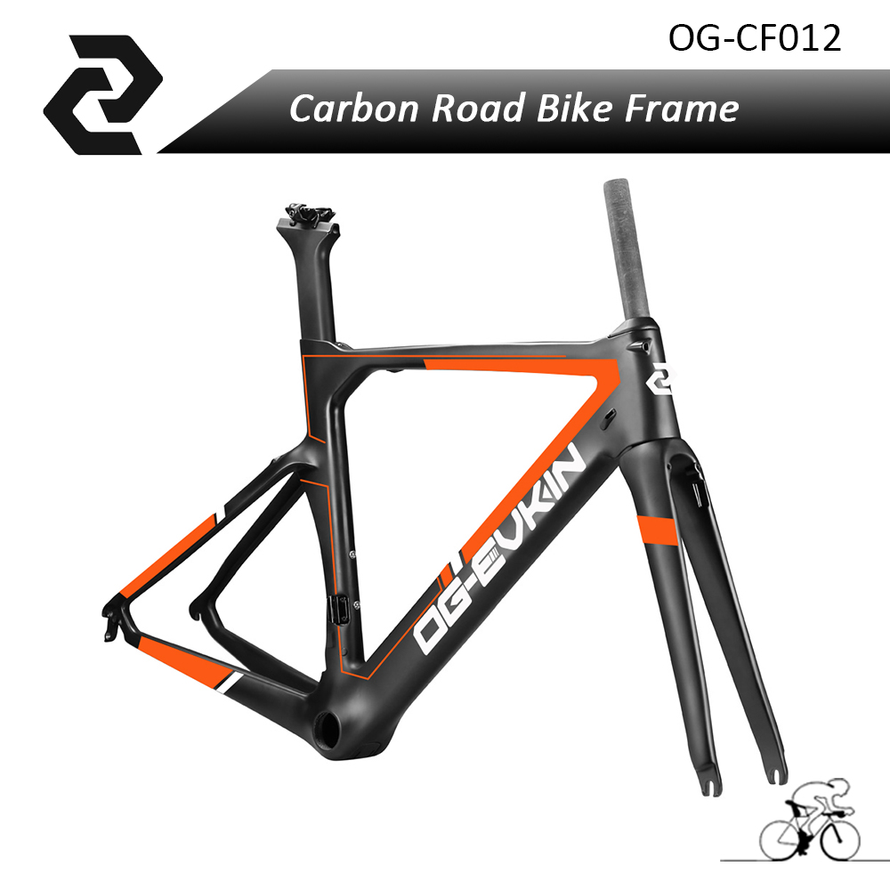 Free Shipping Road Bike Aero Carbon Fiber Bicycle Frame BB386 Glossy/Matte UD Weave DI2 Fit with Shimona 9010/6800/5810 Brake