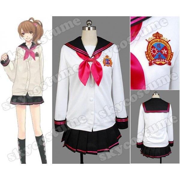 Brothers Conflict Ema Hinata Girls School Uniform Dress Halloween Cosplay Costumes For Women Full Set