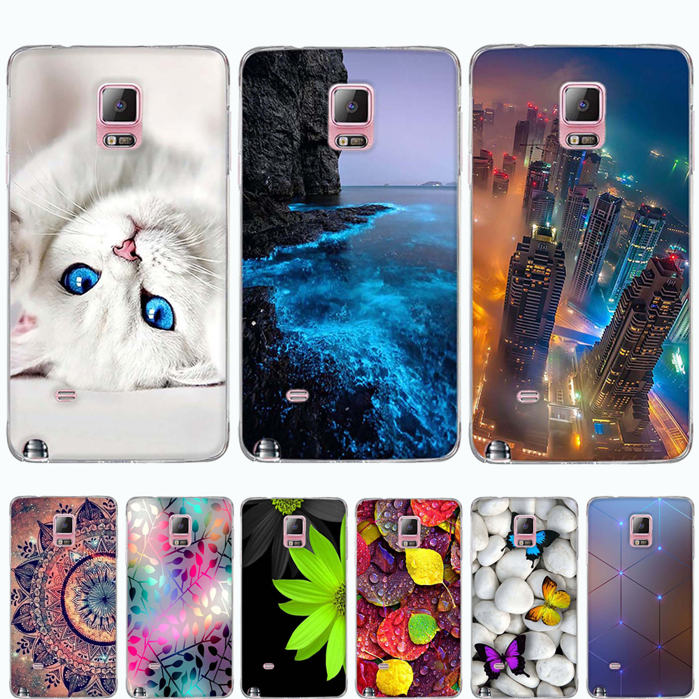 Phone Case For Samsung Galaxy Note 4 Case Cover Silicone Soft TPU 3D Pattern Cover For Samsung Galaxy Note4 Cover Funda Capa