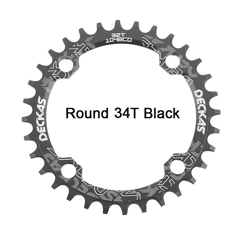 Bike Crank 104BCD Narrow Wide Crankset Single Plate 32T34T36T38T MTB Chainring Bicycle Chainwheel Bike Circle Round Shape (2)