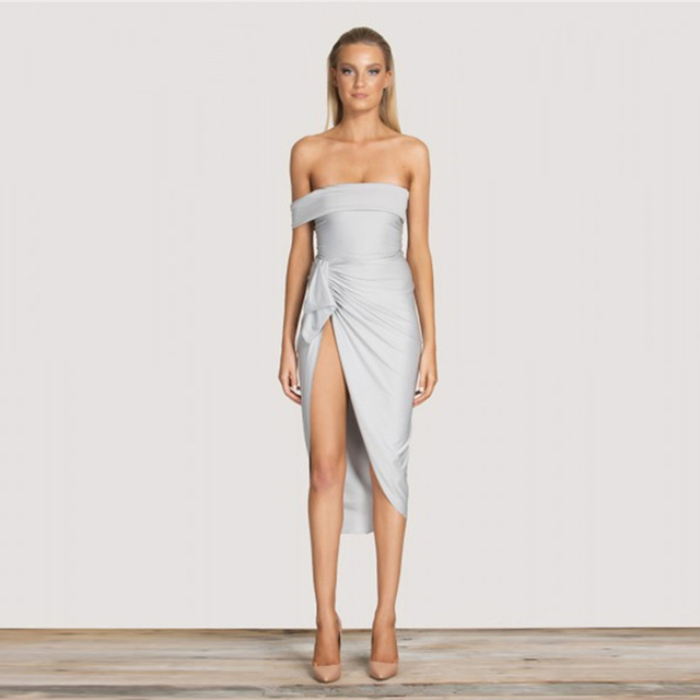 979817ce03282 US $15.03 6% OFF|2017 Happy New Year Sexy Bodycon Dress Spaghetti Strap V  neck Women Bandage Dress Elegant Side Split Black Dresses -in Dresses from  ...