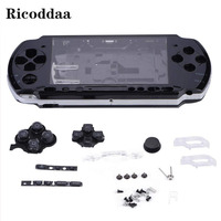 For Sony PSP 2000 Full Housing Case Complete Shell Case Replacement+Buttons Kit Cover Case Parts For PSP 2000 Game Accessories