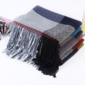 Autumn and winter fashion plaid scarf  warm cotton material scarf tax stamp  lengthen keep warm lady scarf